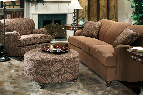 Rent the Hunt Club Chocolate Paisley Living Room Collection