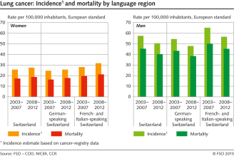 hight resolution of lung cancer incidence and mortality by language region