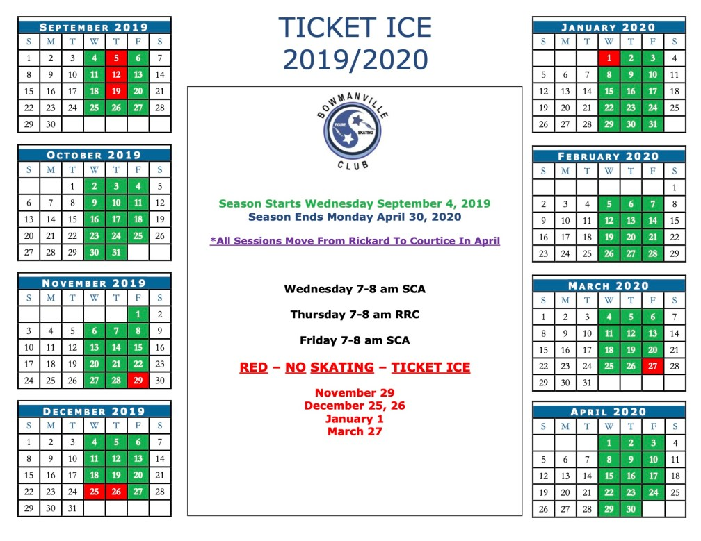 Ticket Ice Calendar