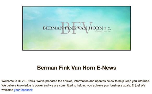 BFV newsletter
