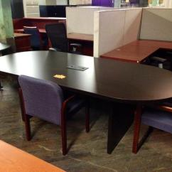 Used Conference Table Chairs Lego With 3 8 Ft Mahogany Nashville Office