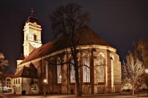 Dom Fürstenwalde bei Nacht