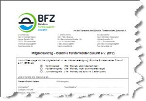 BFZ-Mitgliedsantrag