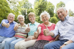 senior citizens learning about insurance