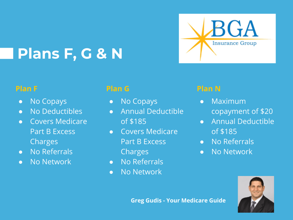 medicare plan f, g, and n comparison guide