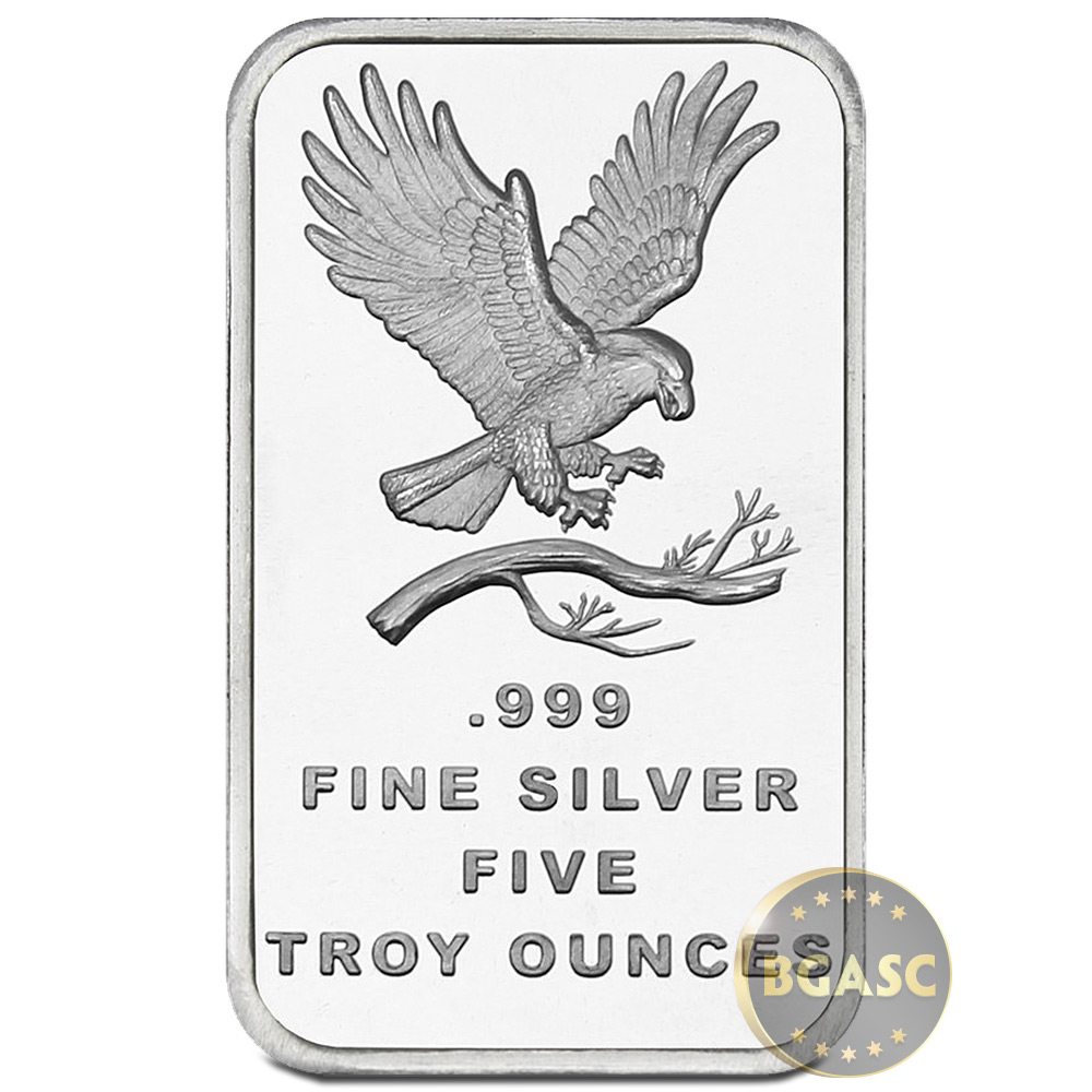 Buy 5 oz Silver Bars SilverTowne Eagle .999 Fine Bullion
