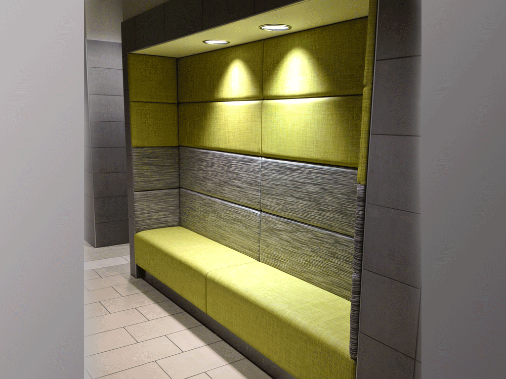 Alcove Seating Inbetween WallsStraight or Curved