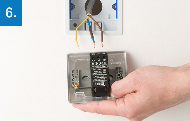wiring a dimmer switch uk diagram dometic lcd thermostat how to upgrade bg electrical accessories line up the new and take note of where each terminal is located