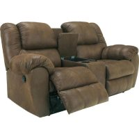 Brilliant Ashley Leather Reclining Loveseat Furniture ...