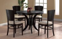 Elegant Modern Round Table And Chairs Espresso Finish ...