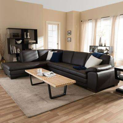 leather living room furniture sectionals ergonomic chair stylish sectional the home depot