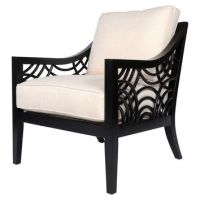 Unique Black And White Accent Chair Decoration In Black