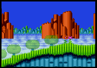 Background HQ Sonic The Hedgehog 2 Hill Top Zone