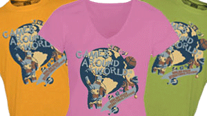 2013 t-shirt design by Rachel Clark Games Around the World
