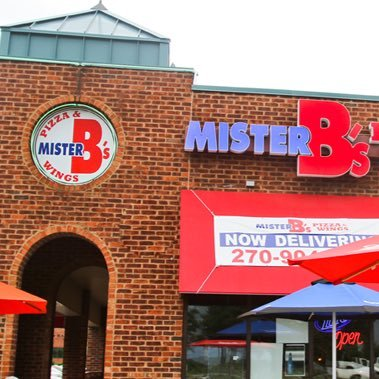 Mister B's Pizza & Wings logo