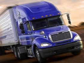 Freight Truck on Road-Domestic FTL Freight Trucking