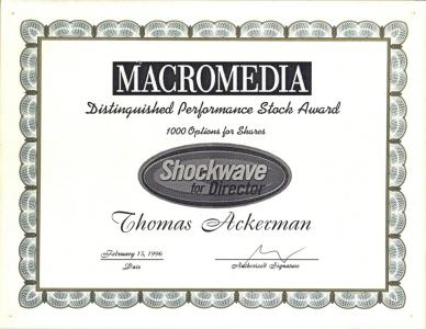 ShockWave Stock Award
