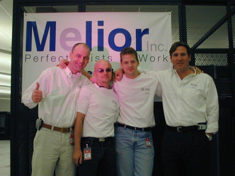 Launch picture: Matt, Brice, Evan, myself (from right)