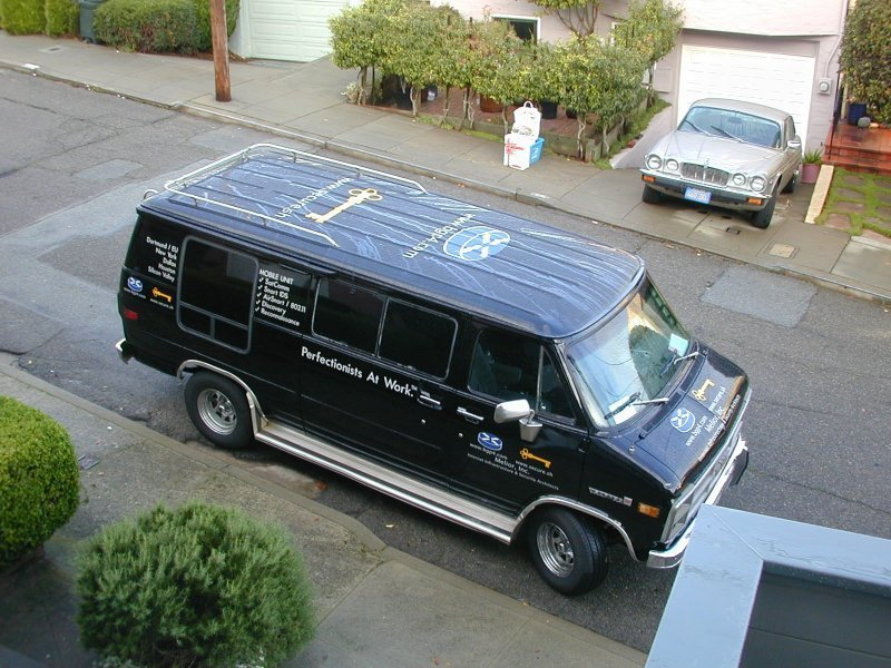 WarDrive Van in San Francisco, Twin Peaks