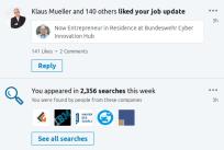 CIH LinkedIn - Searches - FEB 2018