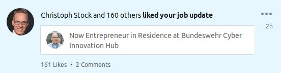 LinkedIn CIH Job Likes