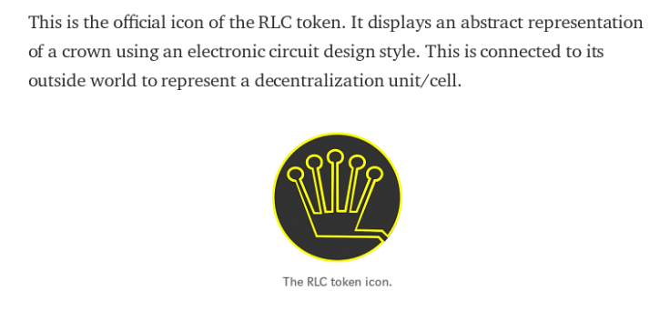 "RLC Token Icon - The RLC cryptocurrency stands for ""Run on Lots of Computers"""