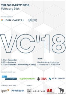 THE VC PARTY 2018 - Berlin - 26 FEB 2018