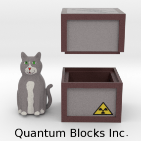 """Fusion of Quantum Computing and Blockchain Tech: """"we let Schrodinger's cat play with blocks""""."""