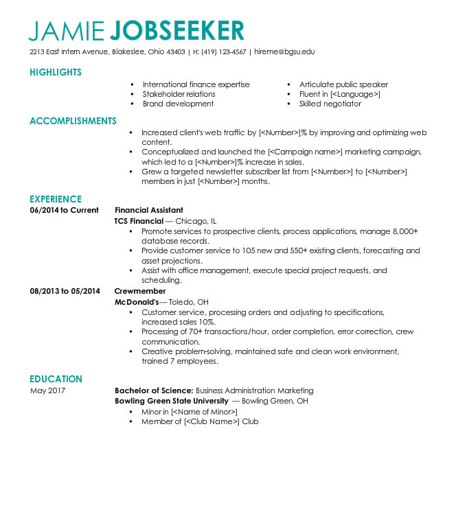 sample resume for office staff