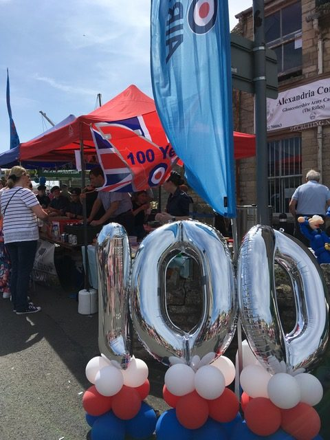 Spitfire helps 2328 Squadron mark RAF's 100th anniversary at Bishop's Cleeve Street Fair