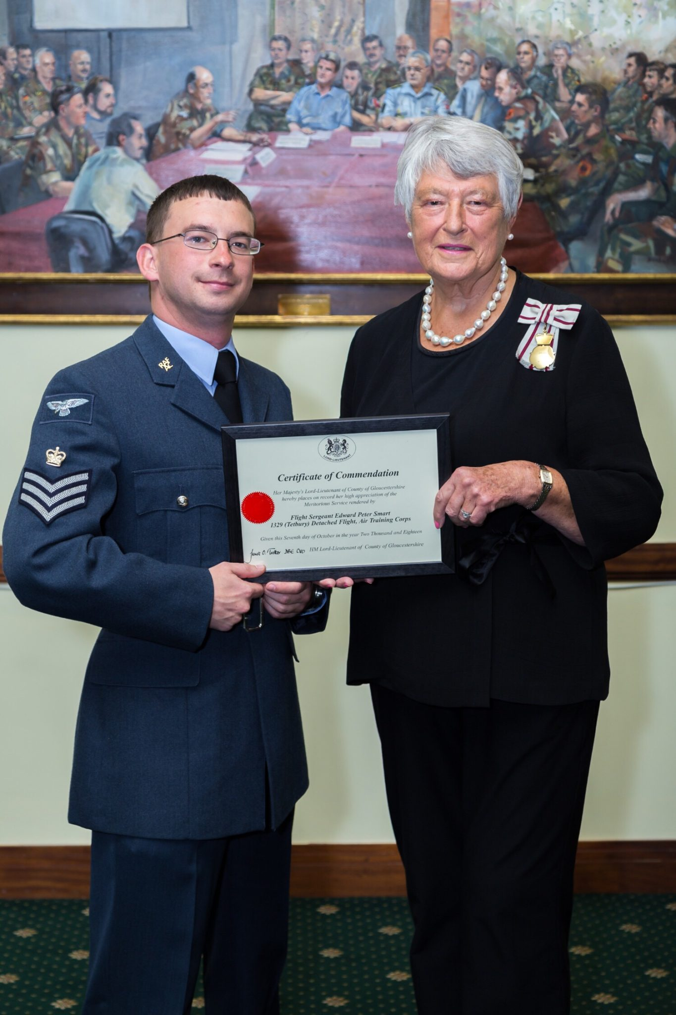 Staff & Cadets Recognised by Lord Lieutenant of Gloucestershire