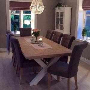 G-Spisebord med innramming Bjørkelund gård 3