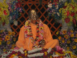 Samadhi de Swami Prabhupada no Templo Krsna Balarama Mandir, em Vrindavana