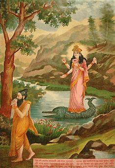 O sábio Jahnu Muni e Ganga devi