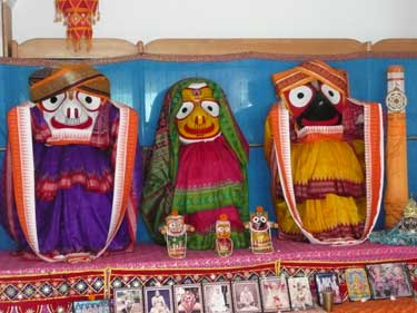 Puri- Takurajis do templo- Jagannatha, Baladeva e Subadra