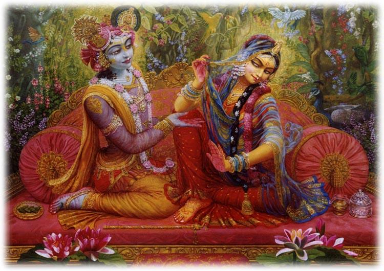 Radha e Krsna em Vrindavana