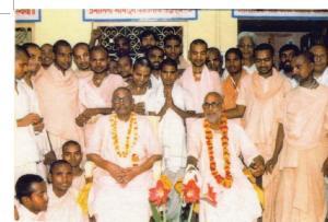 Srila Vamana Gosvami Maharaja e Srila Narayana Gosvami Maharaja