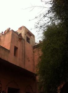 A casa que Srimati Radhika morava com seu marido Abhimanyu e sua família
