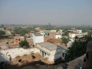 Vista do terraço da casa onde Radha morava com Abhimanyu
