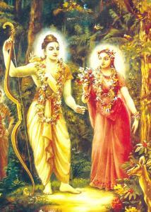 O Senhor Ramacandra e Sua eterna consorte Sita-Devi