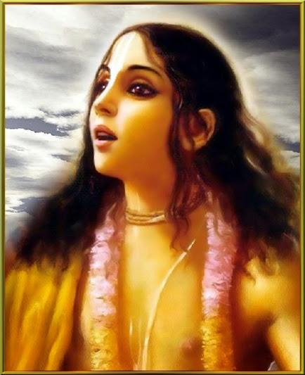 Há uma outra consideração aqui: Deus é amor e amor é Deus. A natureza de Krsna é maravilhosa! Ele é akhila-rasamrta-sindhu. Ele é o oceano de néctar de todas as rasas, mas Ele não tem madanakhya-mahabhava. Ele quer provar isso, para fazer de Sua natureza completa, e, assim, Ele aparece com esse desejo aqui em Navadvipa-dhama.