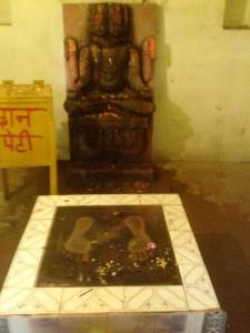 Pegadas do Senhor Rama no templo em Buxar.