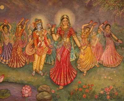 Embora milhões de gopis estivessem também presentes na arena da rasa, elas não podiam atrair a mente de Krsna quando Radhika desapareceu da rasa-lila em maan.