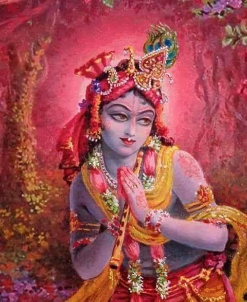Oh Radhika, rainha e mantenedora de Vraja, ofereço pranamas a Você repetidas vezes.