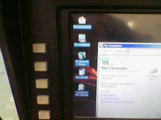 ATM leads to a touch-screen capable Windows Desktop - Closer view