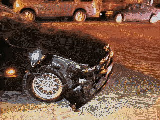 BMW - After the accident/crash