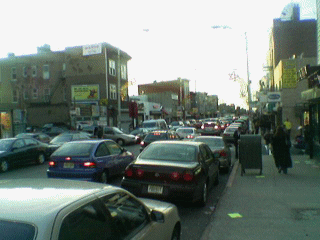 Christmas eve crowds in Jersey City's Newark Ave