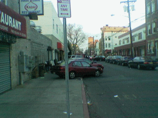Parking on the sidewalk