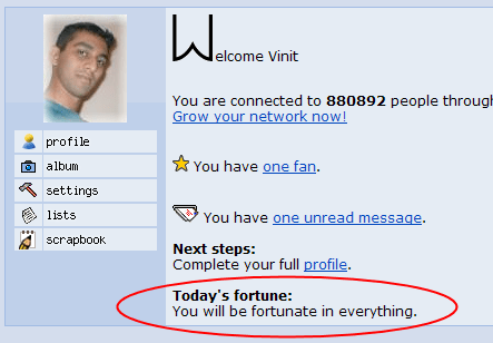 Orkut Fortune Cookie!