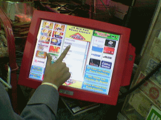 Touch Screen Phone card dispenser